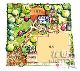 别墅园林设计平面图   园林设计图 景观   私家别墅庭院景观
